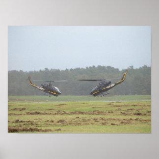 Two AH-1 Cobra Gunships At McEntire JNGB, S.C. Poster