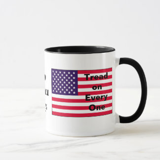 Two American Flags Mug