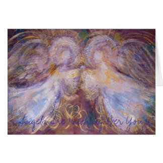 Two Angels, Angels Are Watching Over You Card