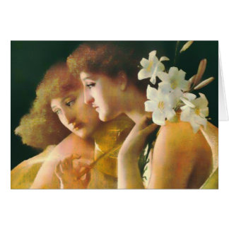 Two Angels Fine Art Card