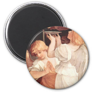 Two Angels, Guido Reni Christian Baroque Fine Art Magnet