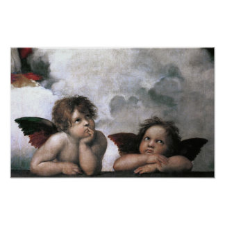 Two Angels Sistine Chapel Raphael Fine Art Poster