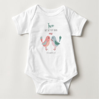Two are better than one Bible Verse Christian Ecc Baby Bodysuit
