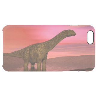 Two argentinosaurus dinosaurs clear iPhone 6 plus case