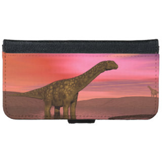 Two argentinosaurus dinosaurs iPhone 6 wallet case