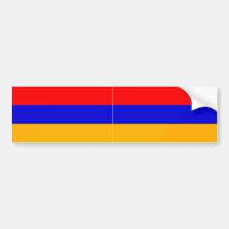 TWO Armenia National Flag Bumper Sticker