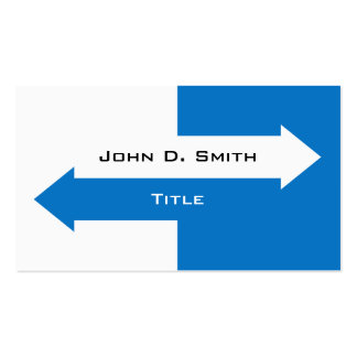 Two arrows blue and white business cards
