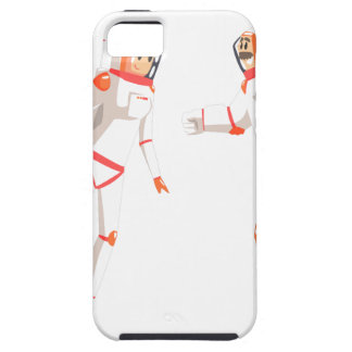 Two Astronauts In Space Suits Chatting On Dark Case For The iPhone 5