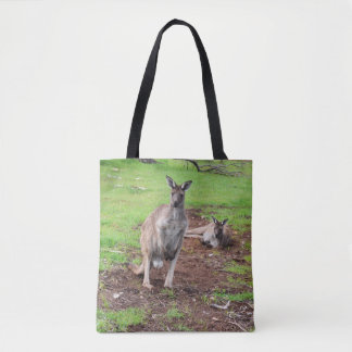 Two Aussie Kangaroos, Full Print Shopping Bag
