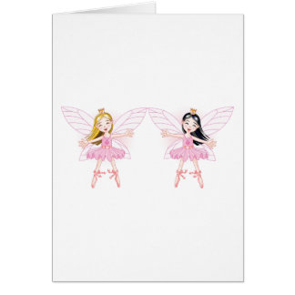 Two Ballerina Fairies Greeting Cards