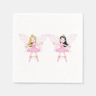 Two Ballerina Fairies Paper Napkins