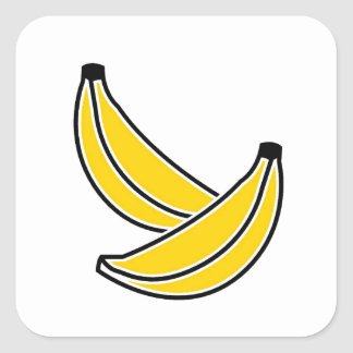 two-bananas square sticker