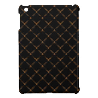Two Bands Small Diamond - Brown Nose on Black Case For The iPad Mini