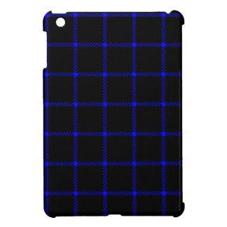 Two Bands Small Square - Blue on Black Cover For The iPad Mini
