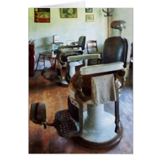 Two Barber Chairs Card