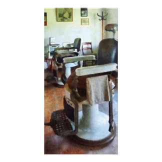 Two Barber Chairs Photo Cards