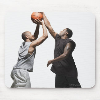 Two basketball players mouse pad