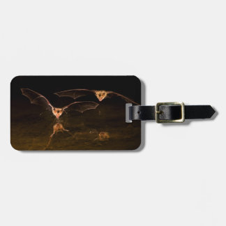 Two bats flying over water, Arizona Luggage Tag