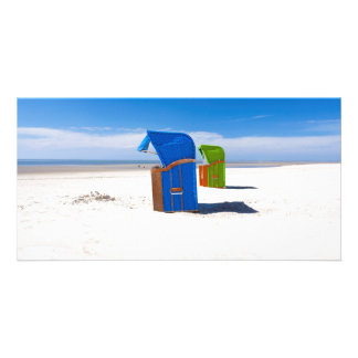 Two beach chairs at the North Sea Photo Greeting Card