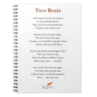 Two Beats Poem Notebook
