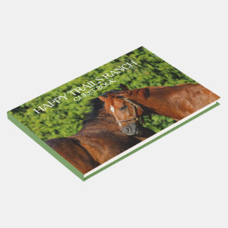 Two Beautiful Chestnut Horses Ranch / Hospitality Guest Book