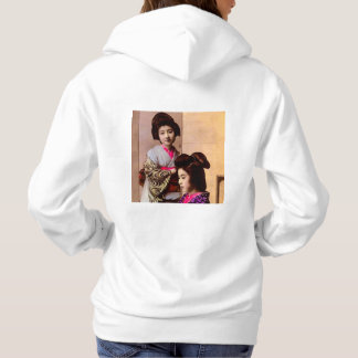 Two Beautiful Geisha Posing in Old Japan Vintage Hoodie