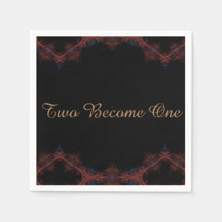 Two Become One Fancy Design Napkin