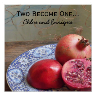 Two Become One Personalized Wedding Perfect Poster
