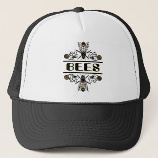 two bees with clover trans1 trucker hat