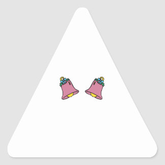 Two Bells Triangle Stickers