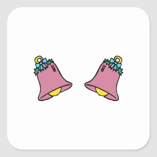 Two Bells Square Stickers