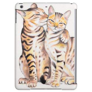Two Bengal Cats Watercolor Art Case For iPad Air
