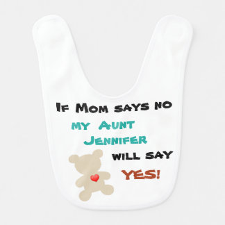 Two bibs in one! If Mom or Dad says no...