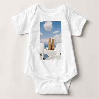 Two big pots on Santorini island Baby Bodysuit