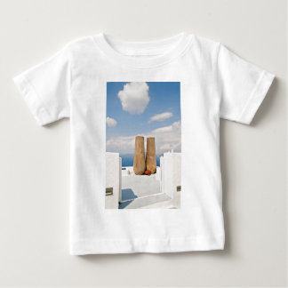 Two big pots on Santorini island Baby T-Shirt
