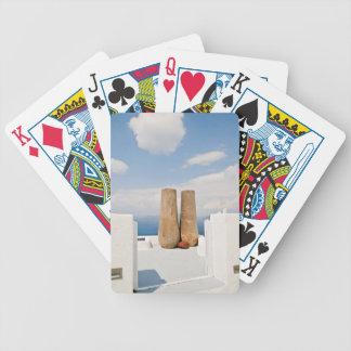 Two big pots on Santorini island Bicycle Playing Cards