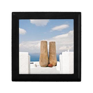 Two big pots on Santorini island Gift Box