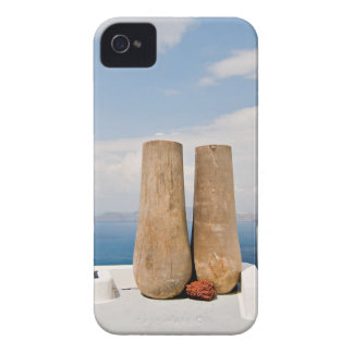 Two big pots on Santorini island iPhone 4 Case-Mate Cases