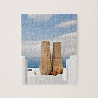 Two big pots on Santorini island Jigsaw Puzzle