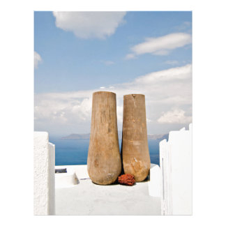Two big pots on Santorini island Letterhead