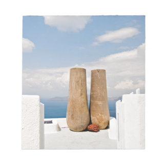 Two big pots on Santorini island Notepad