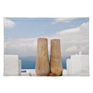 Two big pots on Santorini island Placemat