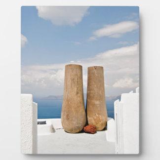 Two big pots on Santorini island Plaque