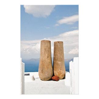 Two big pots on Santorini island Stationery