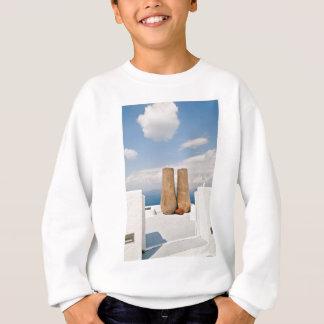 Two big pots on Santorini island Sweatshirt