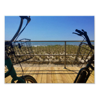 Two bikes and a beach poster