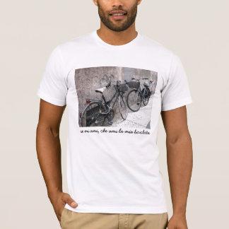 Two Bikes on an Italian Street T-shirt. T-Shirt
