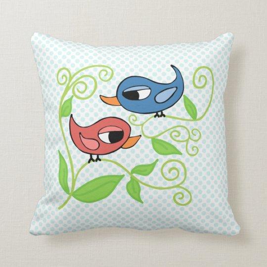 """Two Birdies Polyester Throw Pillow 16"""" x 16"""""""
