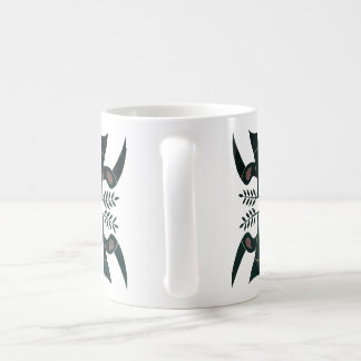 two birds of peace, white 10oz ceramic mug