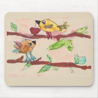 Two Birds on a Branch Mouse Pad
